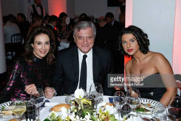 Actress Elsa Zylberstein CEO of Dior Sidney Toledano and Pianist Khatia Buniatishvili attend the Gala evening of the PasteurWeizmann Council in...