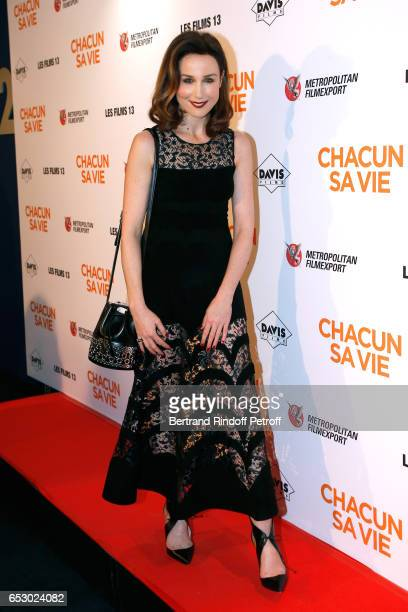 Actress Elsa Zylberstein dressed in Azzedine Alaia attends the 'Chacun sa vie' Paris Premiere at Cinema UGC Normandie on March 13 2017 in Paris France