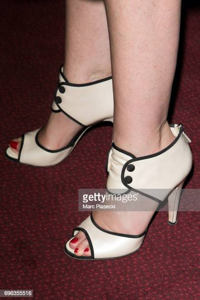 Actress Elsa Zylberstein shoe detail attends the 6th 'ChampsElysees Film Festival' at Cinema Gaumont Marignan on June 15 2017 in Paris France