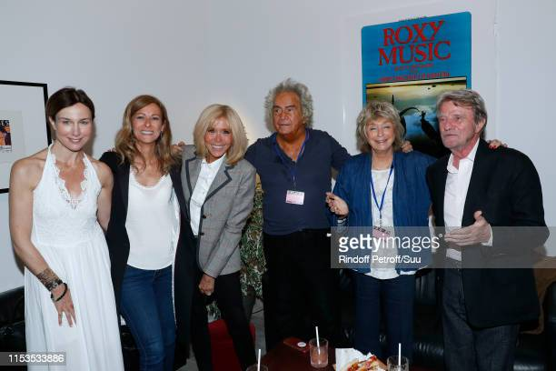 Actress Elsa Zylberstein violonist Anne Gravoin Brigitte Macron producer Albert Koski his wife director Daniele Thompson and Bernard Kouchner attend...