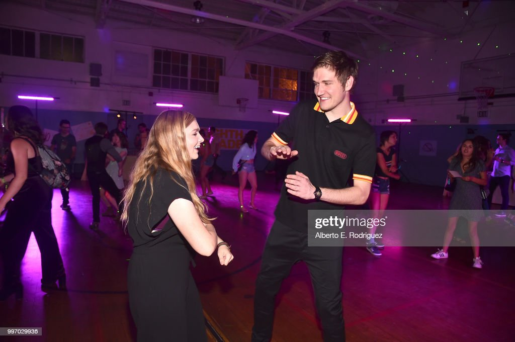 Actress Elsie Fisher and director Bo Burnham attend the after party for a screening of A24's 'Eigth Grade' at Le Conte Middle School on July 11, 2018 in Los Angeles, California.