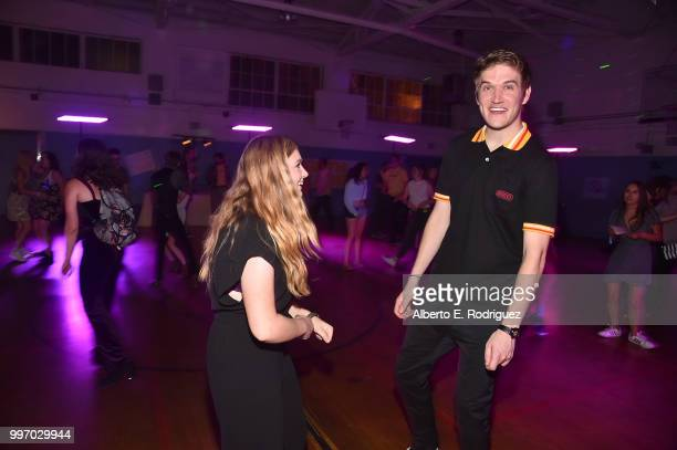 Actress Elsie Fisher and director Bo Burnham attend the after party for a screening of A24's 'Eigth Grade' at Le Conte Middle School on July 11 2018...