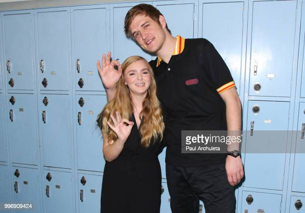 Actress Elsie Fisher and Director Bo Burnham attend the screening of A24's 'Eighth Grade' at Le Conte Middle School on July 11 2018 in Los Angeles...