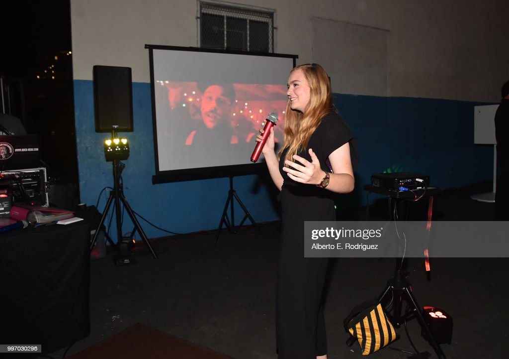 Actress Elsie Fisher attend the after party for a screening of A24's 'Eigth Grade' at Le Conte Middle School on July 11, 2018 in Los Angeles, California.