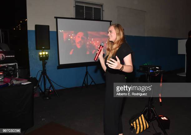 Actress Elsie Fisher attend the after party for a screening of A24's 'Eigth Grade' at Le Conte Middle School on July 11 2018 in Los Angeles California