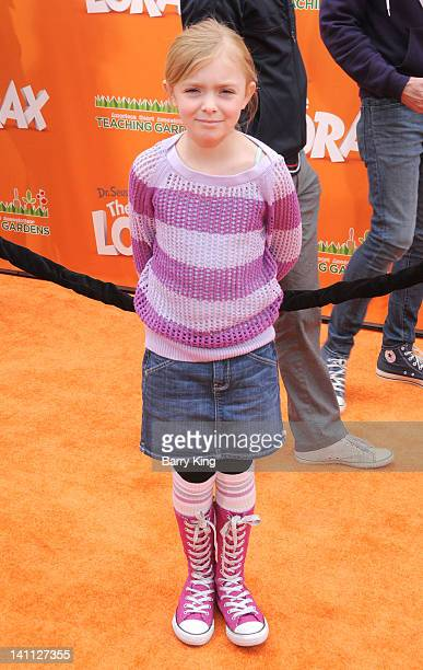 Actress Elsie Fisher attends the premiere of Dr Seuss' 'The Lorax' at Universal Studios Hollywood on February 19 2012 in Universal City California