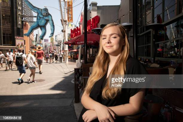 Actress Elsie Fisher is photographed for Los Angeles Times on July 17 2018 on Universal City Walk in Los Angeles California PUBLISHED IMAGE CREDIT...
