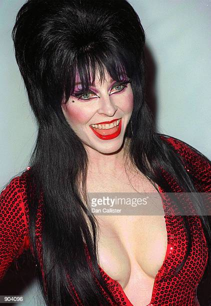 Actress Elvira attends the Hollywood Christmas parade on Hollywood Boulevard in Los Angeles Nov 28 1999