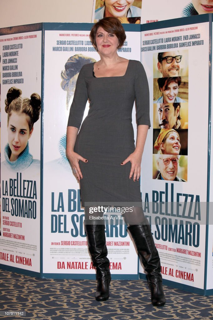 Actress Emanuela Grimalda attends 'La Bellezza Del Somaro' photocall at the Bernini Bristol Hotel on December 10, 2010 in Rome, Italy.