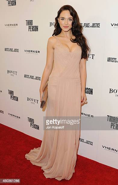 Actress Emanuela Postacchini arrives at the Los Angeles Premiere Third Person at Linwood Dunn Theater at the Pickford Center for Motion Study on June...