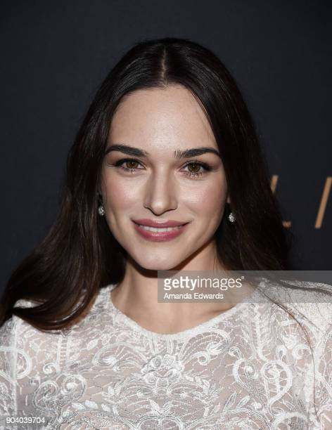 Actress Emanuela Postacchini arrives at the premiere of TNT's The Alienist at The Paramount Lot on January 11 2018 in Hollywood California