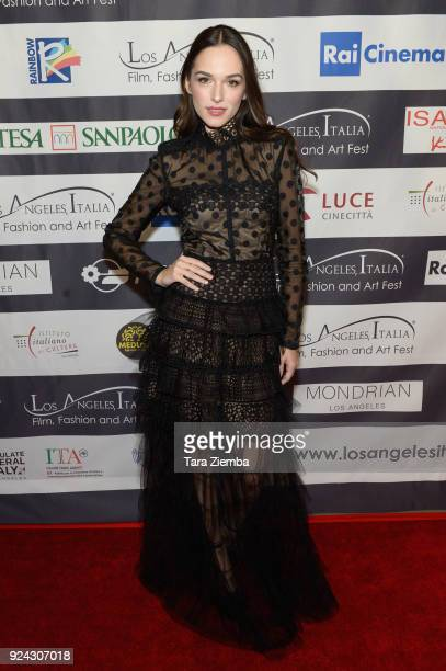 Actress Emanuela Postacchini attends the 13th Annual LA Italia Fest Film Fest opening night premiere of 'Hotel Gagarin' at TCL Chinese 6 Theatres on...