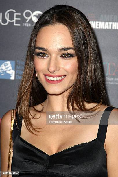 Actress Emanuela Postacchini attends the American Cinematheque Film Series Cinema Italian Style opening night gala held at the Egyptian Theatre on...
