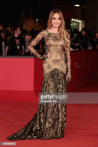 Actress Emanuela Postacchini attends the 'Bullets To The Head' Premiere during the 7th Rome Film Festival at the Auditorium Parco Della Musica on...