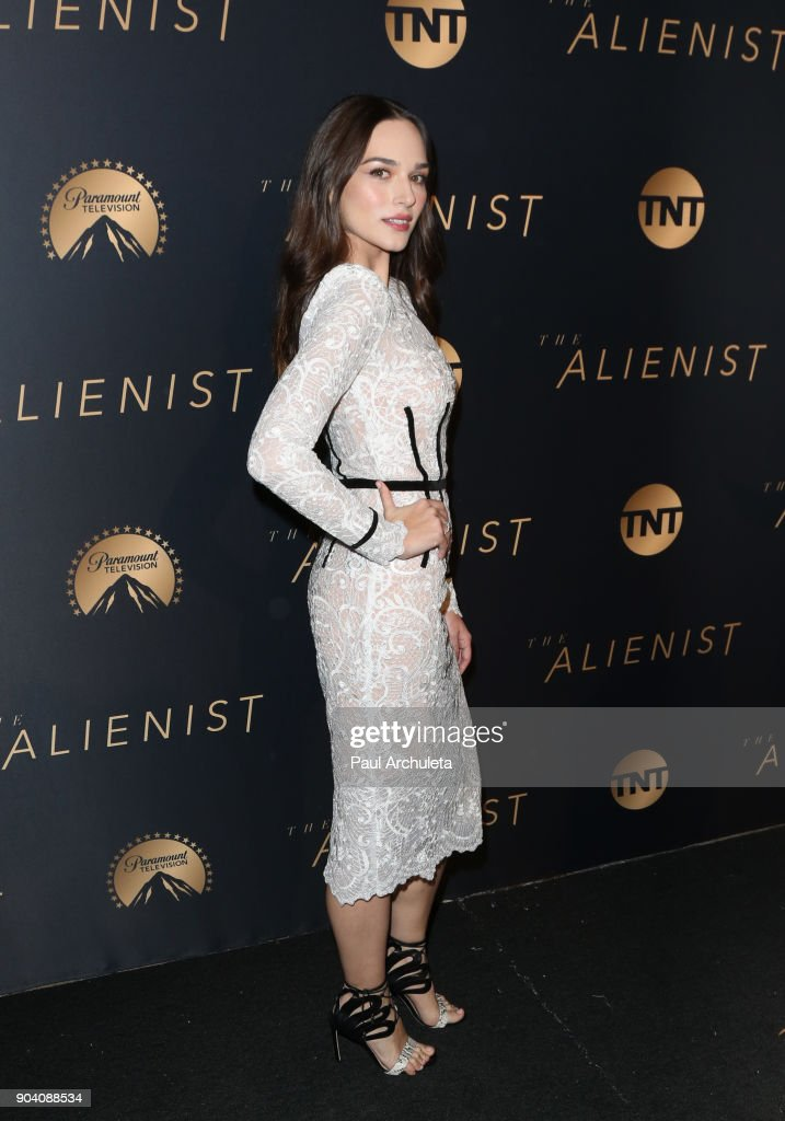 Actress Emanuela Postacchini attends the premiere of TNT's 'The Alienist' at The Paramount Lot on January 11, 2018 in Hollywood, California.