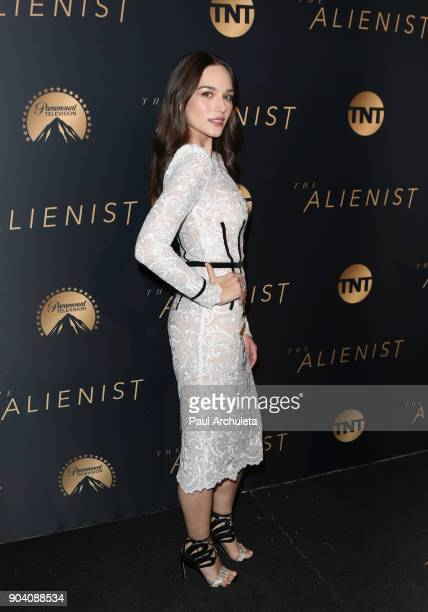 Actress Emanuela Postacchini attends the premiere of TNT's The Alienist at The Paramount Lot on January 11 2018 in Hollywood California
