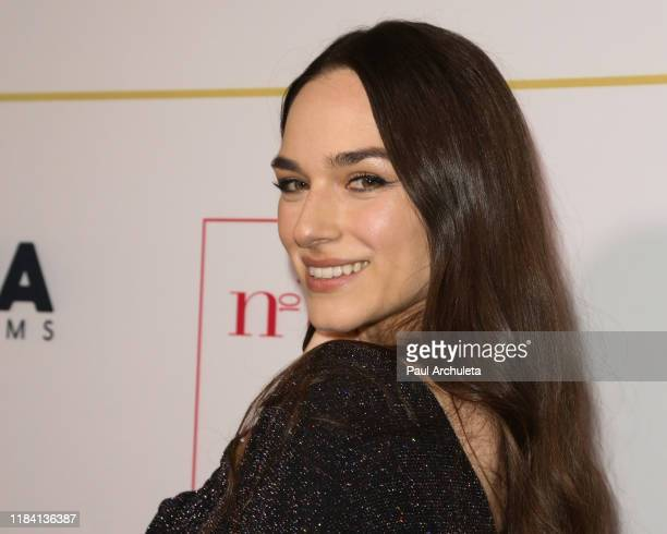 Actress Emanuela Postacchini attends the True Italian Taste Gala Reception Honoring Lina Wertmuller at N10 on October 28 2019 in Los Angeles...