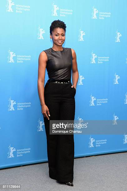 Actress Emayatzy Corinealdi attends the 'Miles Ahead' photo call during the 66th Berlinale International Film Festival Berlin at Grand Hyatt Hotel on...
