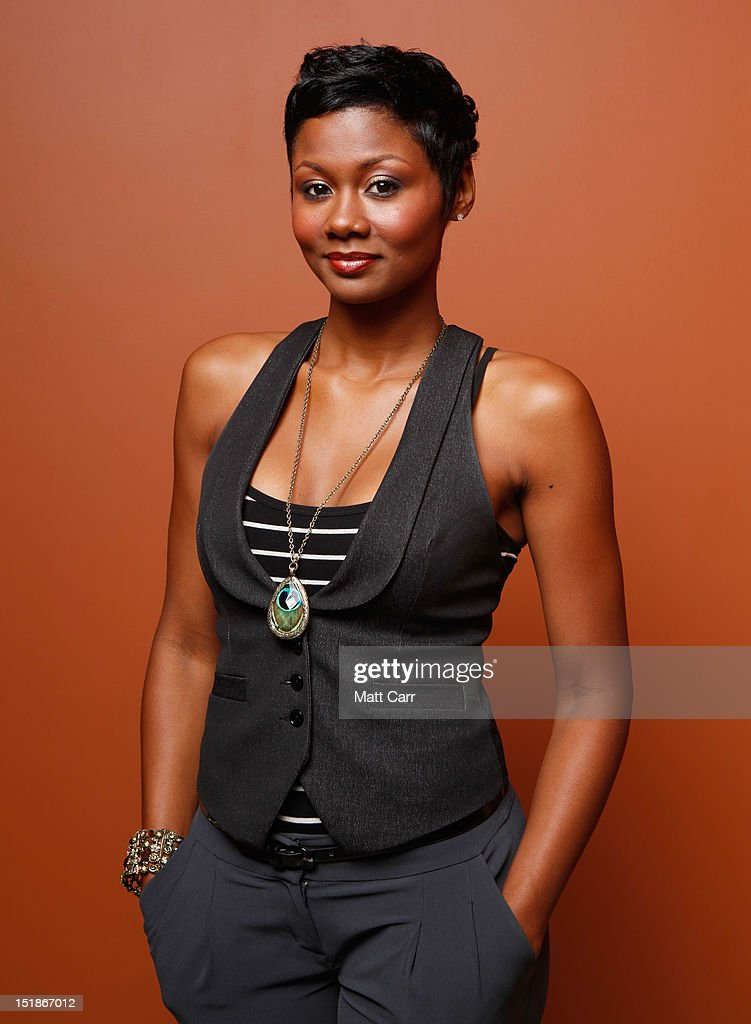 Actress Emayatzy Corinealdi of 'Middle of Nowhere' poses at the Guess Portrait Studio during 2012 Toronto International Film Festival on September 12, 2012 in Toronto, Canada.