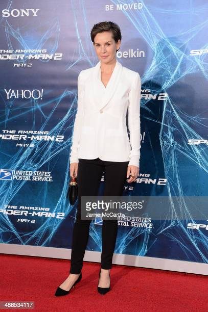 Actress Embeth Davidtz attends 'The Amazing SpiderMan 2' premiere at the Ziegfeld Theater on April 24 2014 in New York City