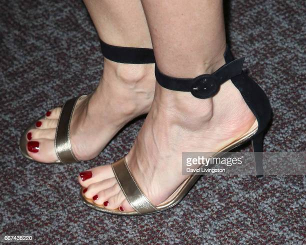 Actress Embeth Davidtz shoe detail attends Showtime's Ray Donovan Season 4 FYC event at the DGA Theater on April 11 2017 in Los Angeles California