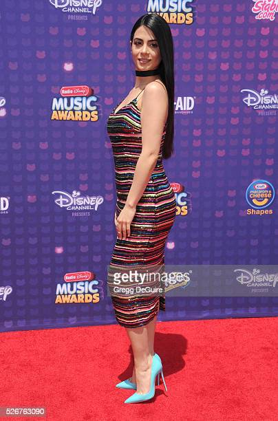 Actress Emeraude Toubia arrives at the 2016 Radio Disney Music Awards at Microsoft Theater on April 30, 2016 in Los Angeles, California.