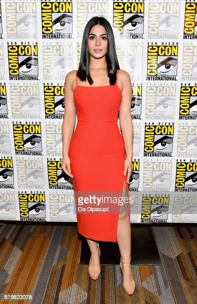 Actress Emeraude Toubia at the Freeform press line for Stitchers and Shadowhunters during ComicCon International 2017 at Hilton Bayfront on July 20...