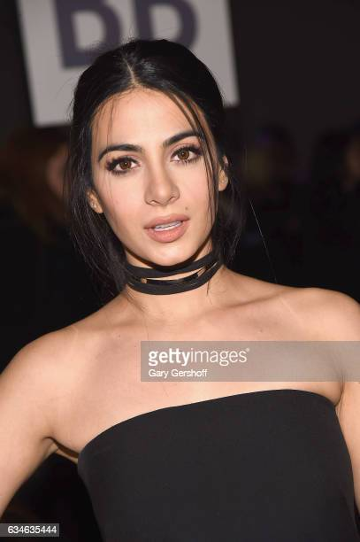 Actress Emeraude Toubia attends the Cushnie Et Ochs fashion show during February 2017 New York Fashion Week at Gallery 1 Skylight Clarkson Sq on...
