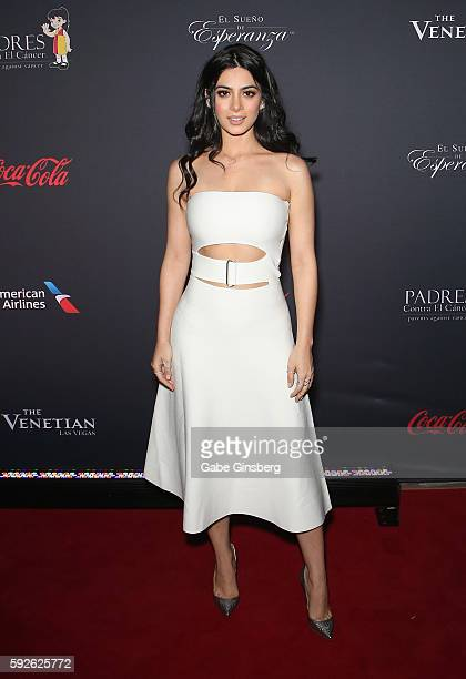 Actress Emeraude Toubia attends the Padres Contra El Cancer's 16th annual 'El Sueno de Esperanza' celebration at The Venetian Las Vegas on August 20...