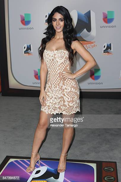 Actress Emeraude Toubia attends the Univision's 13th Edition Of Premios Juventud Youth Awards at Bank United Center on July 14 2016 in Miami Florida
