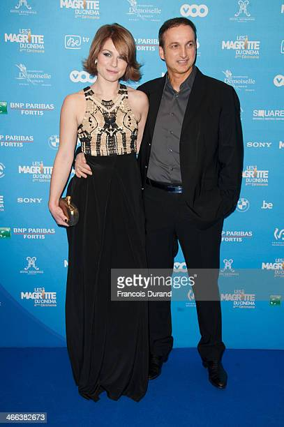 Actress Emile Dequenne and husband actor Michel Ferracci attend 'Les Magritte Du Cinema 2014' at Square Brussels on February 1, 2014 in Brussel,...