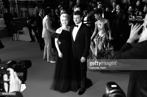 Actress Emilia Clarke and Actor Alden Ehrenreich attend the screening of 'Solo A Star Wars Story' during the 71st annual Cannes Film Festival at...