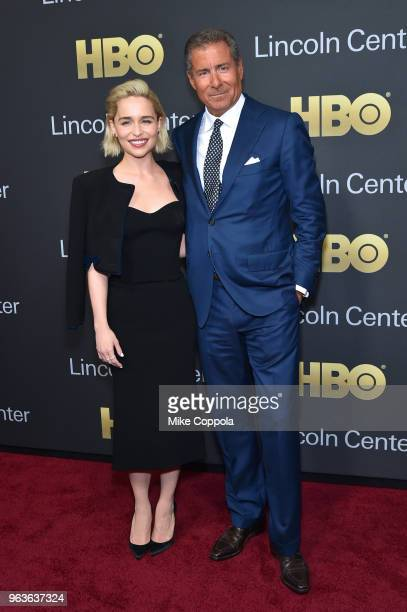 Actress Emilia Clarke and gala honoree Richard Plepler attend Lincoln Center's American Songbook Gala at Alice Tully Hall on May 29 2018 in New York...