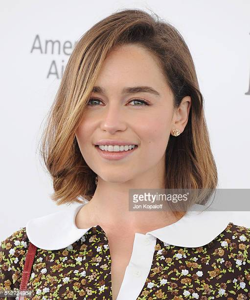 Actress Emilia Clarke arrives at the 2016 Film Independent Spirit Awards on February 27 2016 in Los Angeles California