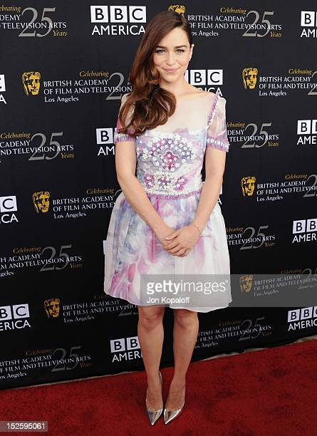 Actress Emilia Clarke arrives at the BAFTA Los Angeles TV Tea 2012 Presented By BBC America at The London Hotel on September 22, 2012 in West...