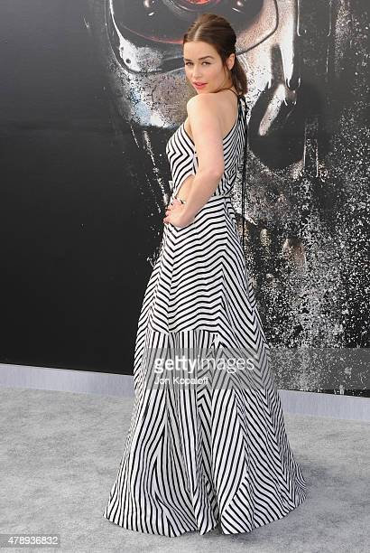 Actress Emilia Clarke arrives at the Los Angeles Premiere 'Terminator Genisys' at Dolby Theatre on June 28 2015 in Hollywood California