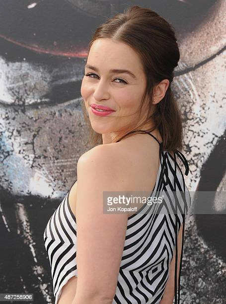 Actress Emilia Clarke arrives at the Los Angeles Premiere Terminator Genisys at Dolby Theatre on June 28 2015 in Hollywood California