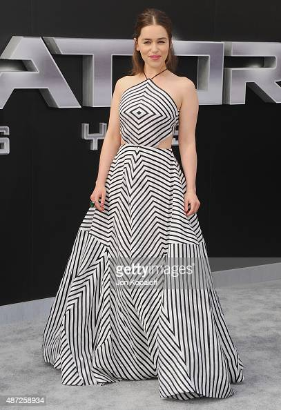 Actress Emilia Clarke arrives at the Los Angeles Premiere ...