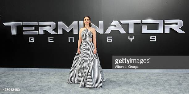 Actress Emilia Clarke arrives for the premiere of Paramount Pictures' 'Terminator Genisys' held at Dolby Theatre on June 28 2015 in Hollywood...