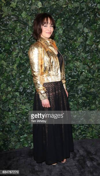 Actress Emilia Clarke attends a pre BAFTA party hosted by Charles Finch and Chanel at Annabel's on February 11 2017 in London England