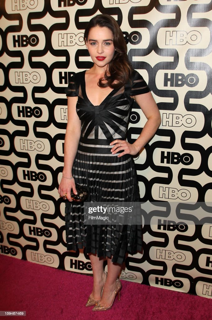 Actress Emilia Clarke attends HBO's Official Golden Globe Awards After Party held at Circa 55 Restaurant at The Beverly Hilton Hotel on January 13, 2013 in Beverly Hills, California.