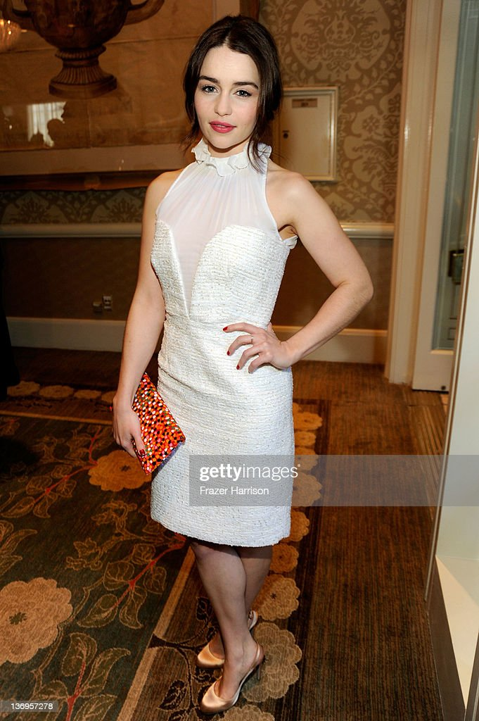Actress Emilia Clarke attends the 12th Annual AFI Awards held at the Four Seasons Hotel Los Angeles at Beverly Hills on January 13, 2012 in Beverly Hills, California.