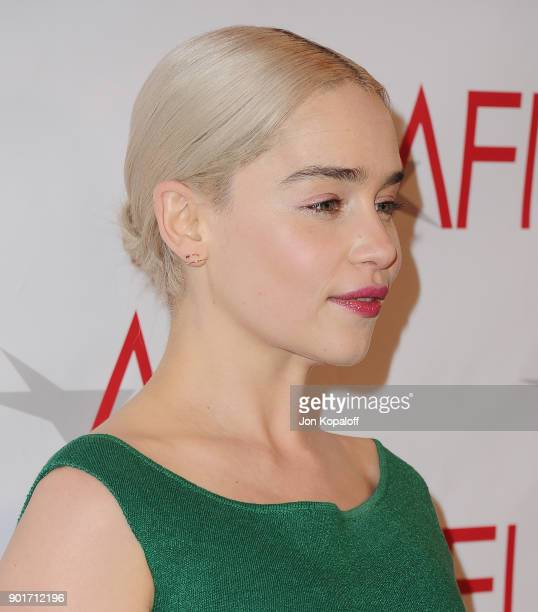 Actress Emilia Clarke attends the 18th Annual AFI Awards at the Four Seasons Hotel on January 5 2018 in Los Angeles California