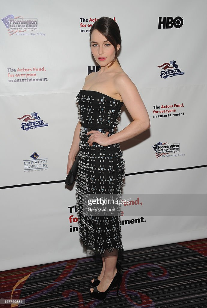 Actress Emilia Clarke attends the 2013 Actors Fund Gala at the Marriott Marquis Hotel on April 29, 2013 in New York City.