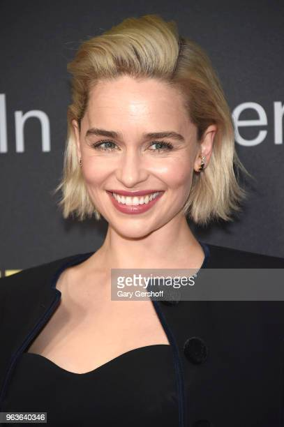 Actress Emilia Clarke attends the 2018 Lincoln Center American Songbook gala honoring HBO's Richard Plepler at Alice Tully Hall Lincoln Center on May...