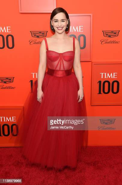Actress Emilia Clarke attends the 2019 Time 100 Gala at Frederick P Rose Hall Jazz at Lincoln Center on April 23 2019 in New York City