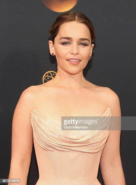 Actress Emilia Clarke attends the 68th Annual Primetime Emmy Awards at Microsoft Theater on September 18 2016 in Los Angeles California