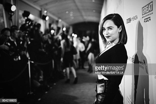 Actress Emilia Clarke attends the BAFTA Los Angeles Awards Season Tea at Four Seasons Hotel Los Angeles at Beverly Hills on January 9 2016 in Los...