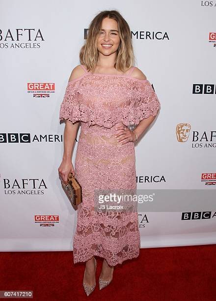 Actress Emilia Clarke attends the BBC America BAFTA Los Angeles TV Tea Party at The London Hotel on September 17 2016 in West Hollywood California