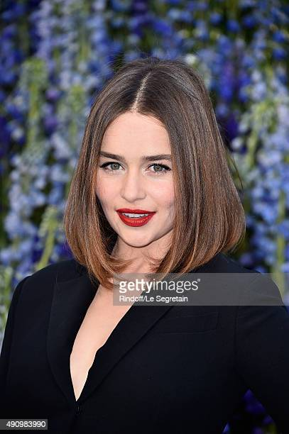 Actress Emilia Clarke attends the Christian Dior show as part of the Paris Fashion Week Womenswear Spring/Summer 2016 on October 2 2015 in Paris...